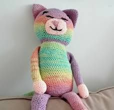 Large ami cat, a nagy zöld cica Crochet Barbie Clothes, Tweety, Free Pattern, Dinosaur Stuffed Animal, Toys, Animals, Fictional Characters, Google, Amigurumi