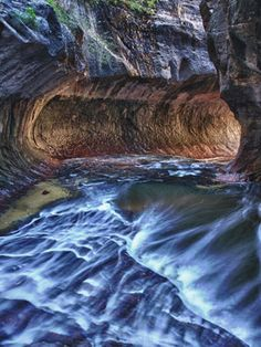 Zion National Park- A user's guide. Pictured: The Subway at Zion National Park