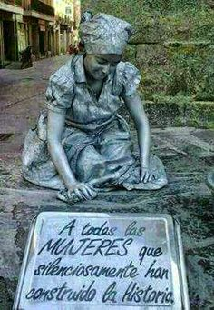 """""""For all the women who silently created history"""". Graffiti, Cool Pictures, Beautiful Pictures, Cemetery Art, First Art, Woman Quotes, Art History, Garden Sculpture, Street Art"""