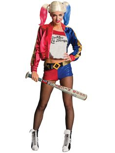 Buy Suicide Squad Harley Quinn Costume (Medium) at Mighty Ape NZ. Suicide Squad Harley Quinn Costume She has been described as funny, crazy, scary, manipulative…the list is endless. Teaming up with Villains like Dea. Bat Costume, Cosplay Costumes, Costume Ideas, Harley Costume, Cosplay Ideas, Halloween Costume Accessories, Halloween Costumes, Batman Costumes, Halloween 2016