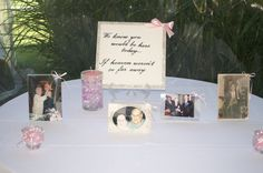 a beautiful table for remembering those who could not be at the wedding of one of our couples