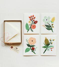 botanical card set