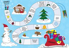 Christmas Activities For Kids Boardgame 001 - Printable Coloring Pages