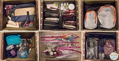 organizing orla kiely double train case as a travel makeup kit and other travel organization tips