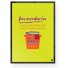 Quadrinho decorativo para lavanderia.  Você encontra este e muito mais na Fofys: www.fofys.com.br  #lavanderia #quadro #quadrinho #quadrodecorativo #decoracao #decor #homedecor #verde #green