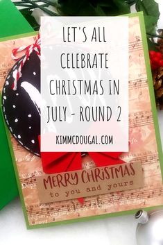"""I'm continuing with my series """"Let's All Celebrate Christmas in July"""" sharing new cards but also breaking out older cards too! Today, I'm showing 4 NEW cards I finished making last night using mainly items from Spellbinders """"Merry Everything"""" card kit from 2019! Read the full post!"""