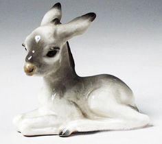 Russian Porcelain - DONKEY from the LOMONOSOV Factory