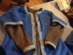 Viking kaftan with coordinating linen tunic  By: BadAss Garb
