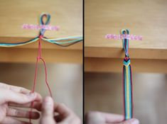 DIY: friendship bracelet - I had tons of these on my clipboard in junior high, trying to be stealthy and making them during class.