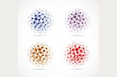 Four Molecular Spheres by Lonely on Creative Market