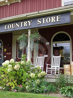 Entrance to country store in Vermont