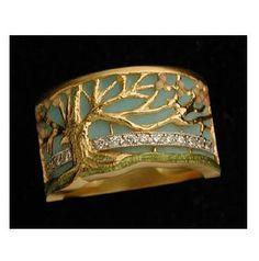 Masriera - Tree of Life Enameled Ring
