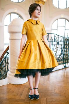 Golden fashionista!  New Raw Silk Dresses made exclusively for Childrensalon are now available at online store https://www.childrensalon.com/designer/lazy-francis. Find your fashion treasure, shop now!