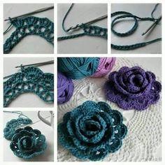 Crochet flower - Step by step video tutorial free pattern - Crochet Websites Free
