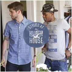 Hollister Co.'s Facebook photo Styled at the #HollisterHouse: Malcolm Kelley and Tony Oller of @We Are MKTO keepin' it laidback. #mensfashion