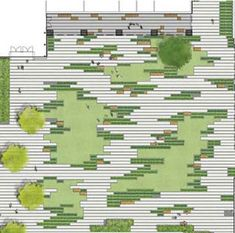 Paving pattern // Andrea Cochran This isnt a pattern. It is a design concept. Learn to unsee the forms and systems you put apriori. Landscape Concept, Landscape Architecture Design, Green Landscape, Landscape Plans, Architecture Plan, Plaza Design, Paving Pattern, Urban Park, Site Plans