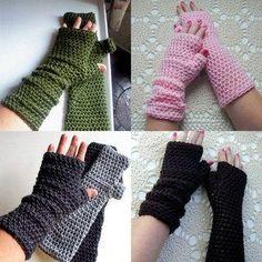 Crochet Pattern Long Fingerless Gloves Mitts or Arm Warmers PDF Digital Crochet . Crochet Wrist Warmers, Crochet Mitts, Crochet Gloves, Crochet Scarves, Diy Crochet, Crochet Crafts, Crochet Projects, Hand Warmers, Crochet Cake