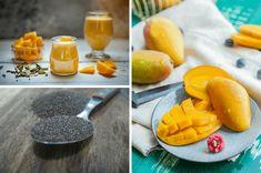 Fruchtige Mango, cremige Kokosmilch & Sattmacher-Chiasamen vereint in einem köstlichen Smoothie. Dieser Smoothie mit Mango ist in nur 3 Minuten zubereitet! Vegan, Cantaloupe, Fruit, Food, Coconut Milk, Slim, Essen, Meals, Vegans