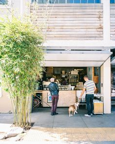 Sunday morning coffee at Blue Bottle Linden Alley