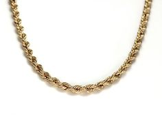 10k Yellow Gold Estate Rope Chain - Available online!