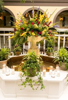 Fountain view - Hotel Mazarin  Upbeat Southern Garden Fête | New Orleans, LA New Orleans Hotels, New Orleans Wedding, Wedding Vendors, The Borrowers, Real Weddings, Fountain, Wedding Photos, Wedding Inspiration, Table Decorations