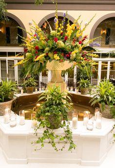 Fountain view - Hotel Mazarin  Upbeat Southern Garden Fête   New Orleans, LA
