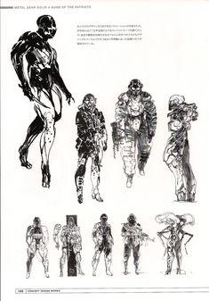 Metal Gear Solid 4 early concept art by Yoji Shinkawa
