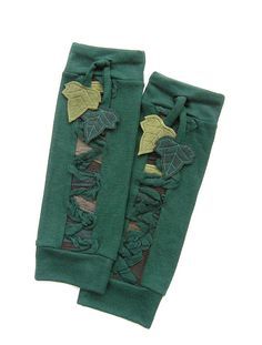FOREST leg warmers • Green, ivy, fantasy, festival clothing by Nomadum on Etsy, $50.00