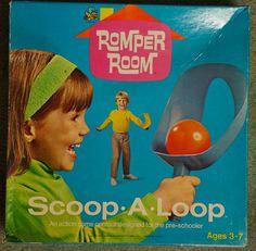 ROMPER ROOM: 1970 Scoop-A-Loop #Vintage #Toys