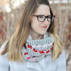Puppy Love Crochet Infinity Scarf