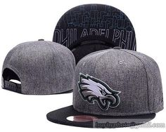 Philadelphia Eagles Snapback Hats Caps Dark Grey cheap for sale 9ac476723