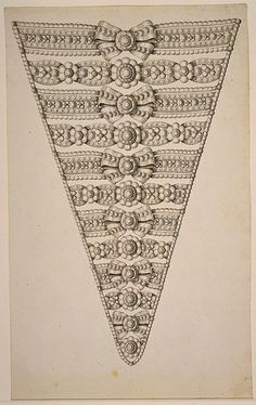 """Drawing, """"Design for a Jeweled Stomacher"""", 1775–1800"""