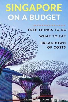 Singapore travel: Singapore on a budget is possible. In this guide you will find several free things to do, what to eat and where, and my detailed travel expenses.