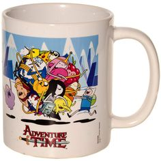 Adventure Time Ball Of Fun Mug (White) ($9.39) ❤ liked on Polyvore featuring home, kitchen & dining, drinkware und white mugs