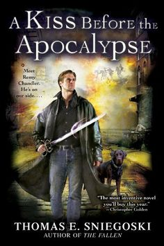 A Kiss Before the Apocalypse: A Remy Chandler Novel by Thomas E. Sniegoski, http://www.amazon.com/dp/B001AY2IKU/ref=cm_sw_r_pi_dp_9CRcrb18B77ZP