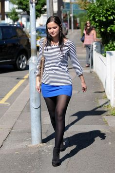 Picture of Jacqueline Jossa Pantyhose Outfits, Black Pantyhose, Black Tights, Nylons, Fashion Tights, Tights Outfit, Skirt Outfits, Cute Outfits, Jacqueline Jossa