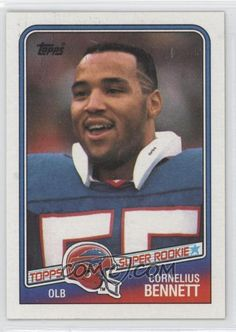 cornelius bennett Buffalo Bills Football, Alabama Football, Pittsburgh Steelers, American Football, Football Trading Cards, Football Cards, Baseball Cards, Tough Guy, Cornelius
