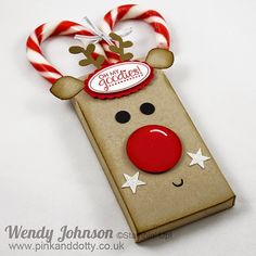 Candy Cane Reindeer Box by Wendy Johnson