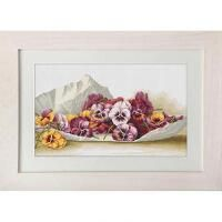 Luca-S Pansies Counted Cross-Stitch Kit