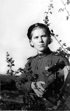A dangerous woman in the most literal sense Senior Sergeant Roza Shanina was a sniper in the WWII Soviet Army. She racked up at least 54 kills of German soldiers before her death from wounds at age 20. She served part of the time in an all-woman sniper unit. Before the war she worked as a kindergarten teacher.
