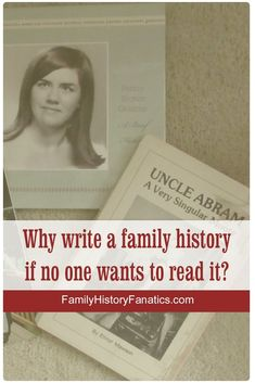 Discovery why it's imperative to turn your genealogy facts into stories, even if you do not know anyone who wants to read your work. #familyhistory #genealogy #FHFanatics #FamilyHistoryFanatics #writingtips