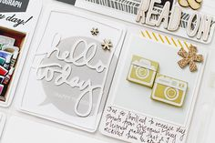 leena loh, die cut layered over card