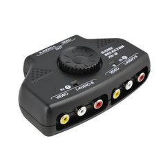 Optimal Shop- 2 Way Audio Video Switch Selector Box Splitter with RCA Cable for VCD / DVD / Video Camera / Recorder / Video Game Optimal Shop http://www.amazon.com/dp/B00J6W8D0C/ref=cm_sw_r_pi_dp_jEEdxb13E44DT