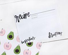 Printable Recipe Cards // BodhiLuxe - Coco & Mingo