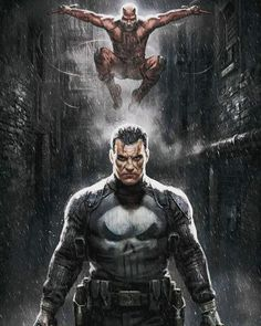 Frank Castle and Matt Murdock patrol Hell's Kitchen on the Marvel Knights: Punisher & Daredevil Art Print, and all the bad guys run and hide. Heros Comics, Bd Comics, Marvel Comics Art, Marvel Heroes, Marvel Marvel, Captain Marvel, Comic Book Characters, Comic Book Heroes, Comic Books Art