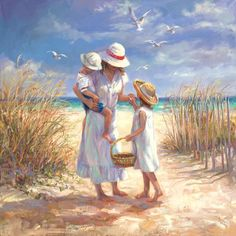 """Mother's Day Beach"" by Laurie Snow Hein"