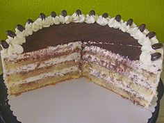 Uschis Tiramisu-Torte Uschis Tiramisu – cake (recipe with picture) by Cake Recipes With Pictures, Food Pictures, Chocolate Desserts, Chocolate Chip Cookies, Barn Wedding Cakes, Walnut Kernels, Fiber Fruits, Cake Mixture, Nutella