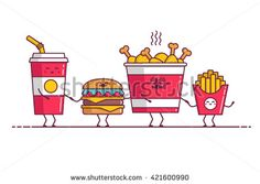 Find Fast Food Chicken Soda Burger Potato stock images in HD and millions of other royalty-free stock photos, illustrations and vectors in the Shutterstock collection. Fast Food Workers, Pixel Art, Soda, Chicken Recipes, Royalty Free Stock Photos, Potatoes, Drawings, Illustration, Hamburgers