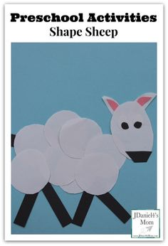 Shape Sheep- Great for Chinese New Year, Easter, or Spring