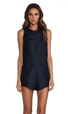 Cameo Lucky Now Romper in Midnight Blue